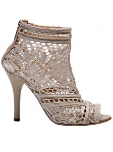Dolce&Gabbana Crochet Ankle Boots