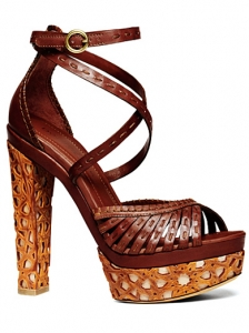 Donna Karan Brown Platform Sandals