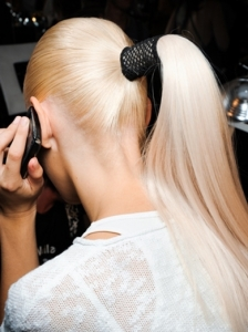 Sleek Ponytail at Donna Karan