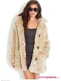 Double Agent Faux Fur Coat
