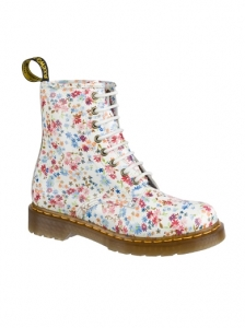 Dr.Martens Blue Little Flowers Boots