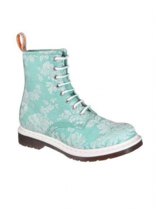 Dr. Martens Tiffany Blue and Floral Boots