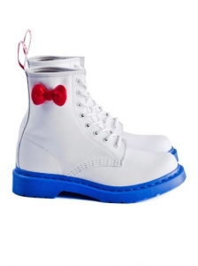 Dr Martens Hello Kitty White and Blue Boots