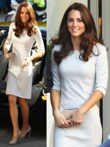 Duchess Kate in Amanda Wakeley Sheath Dress