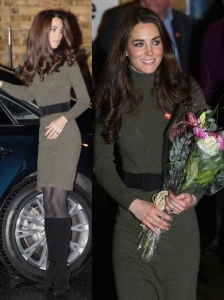 Duchess Kate in Ralph Lauren Blue Label Dress