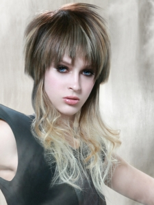 Punk Tapered Long Hair Style