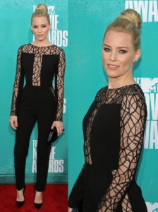 Elizabeth Banks in Elie Saab Lace Jumpsuit