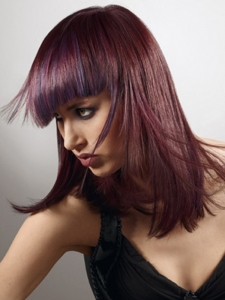 Glam Purple Hair Highlights Idea