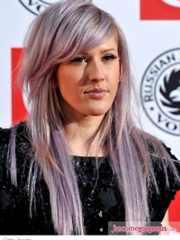 Ellie Goulding Long Choppy Hairstyle