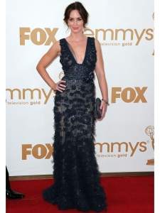 Emily Blunt in Elie Saab Midnight Blue Gown