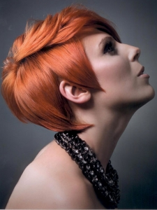Medium Pixie Red Hair Style