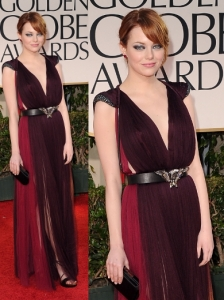 Emma Stone in Lanvin at 2012 Golden Globes