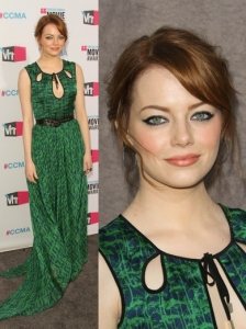 Emma Stone in Jason Wu Green Gown