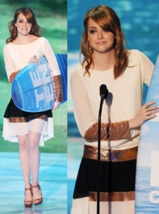 Emma Stone in Dior Colorblock Dress