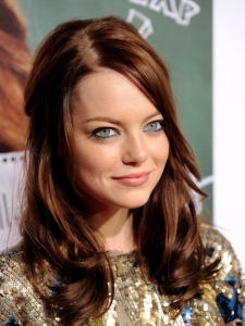Emma Stone Demi Up Hairstyle
