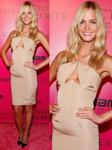 Erin Heatherton in Nude Halter Dress
