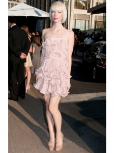 Erin Fetherston Frilly Blush Dress