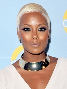 Eva Marcille White Blonde Short Hairstyle