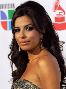 Eva Longoria Half Updo with Hump