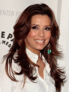 Eva Longoria Razor-cut Layered Hairstyle