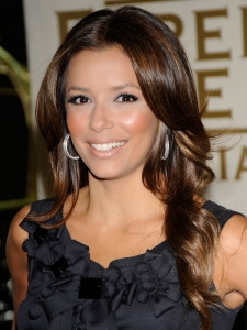 Eva Longoria Shiny Curly Hairstyle