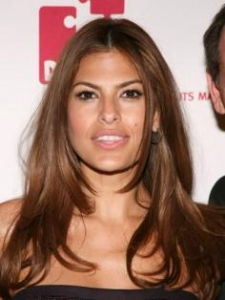 Eva Mendes with Long Layered Haircut