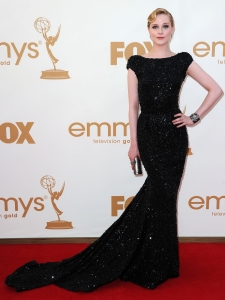 Evan Rachel Wood in Elie Saab Black Gown