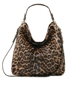 Evelina Hobo Leopard Bag