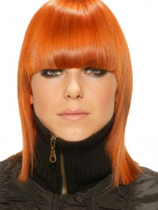 Medium Red Hair Style