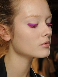 Hot Pink Eye Makeup at Donna Karan