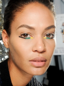 Eye Makeup with Color Strips at Fendi
