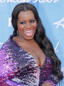 Fantasia Barrino with Long Hairstyle