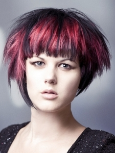 Punk Purple Hair Highlights