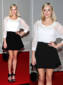 Fearne Cotton in Black/White Look