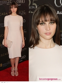 Felicity Jones in Dolce & Gabbana Cream Dress