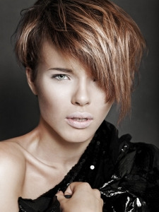 Glam Choppy Layered Haircut Idea