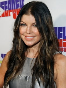 Fergie Brunette Hairstyle with Highlights