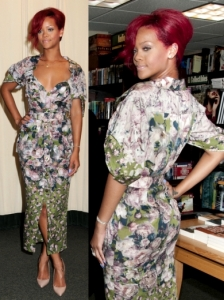 Rihanna in Jean Paul Gaultier Floral Dress