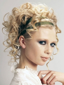 Flirty Curly Updo Hair Style
