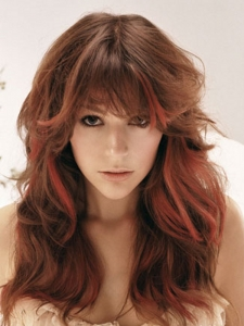 Red Long Hair Highlights