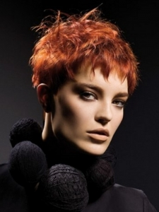 Short Choppy Red Hair Style