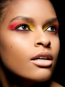 Beautiful Red and Yellow Makeup