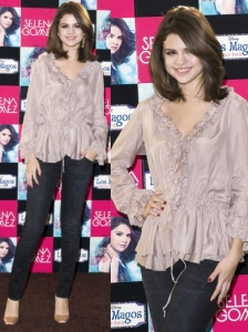 Selena Gomez in Rebecca Taylor Ruffled Blouse