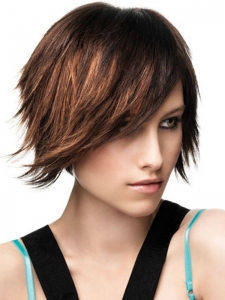 Razor Cut Medium Hair Style