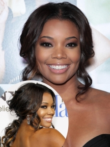 Gabrielle Union Curly Low Pony Hairstyle