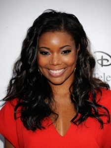 Gabrielle Union Tousled Curly Hairstyle
