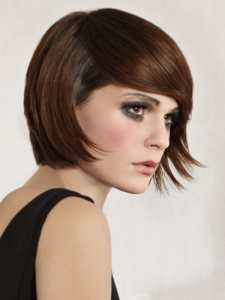 Glam Medium Bob Hair Style