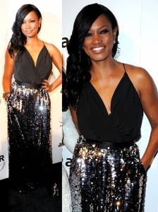 Garcelle Beauvais in St John Dress