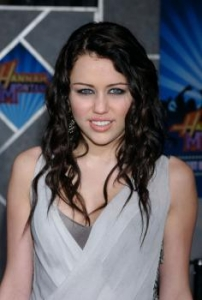 Miley with Dark Beach Waves