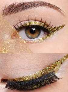 Gold Glitter Liner Eye Makeup